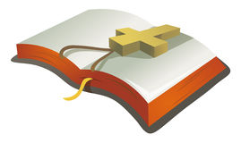 Book and crucifx Stock Image