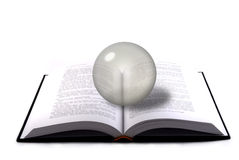 Book and crystal sphere Royalty Free Stock Images