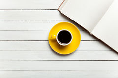 Book and cup of coffee Stock Photography