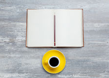 Book and cup Royalty Free Stock Photos