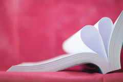 book curved heart shape Royalty Free Stock Photos