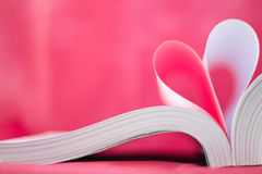 book curved heart shape Royalty Free Stock Photo