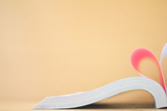 book curved heart shape Stock Photo