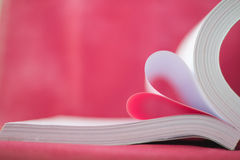 book curved heart shape Royalty Free Stock Photography
