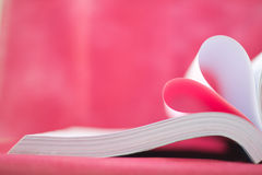 book curved heart shape Royalty Free Stock Image