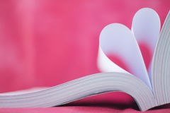book curved heart shape Royalty Free Stock Images