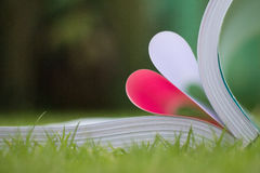 book curved a heart shape Royalty Free Stock Image