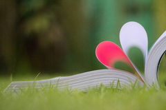 Book curved a heart shape Stock Photography