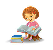 book cute girl reading Στοκ Εικόνα
