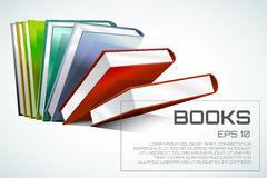 Book 3d vector illustration isolated on white Stock Photography