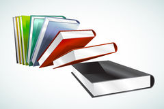 Book 3d vector illustration  on white Royalty Free Stock Image