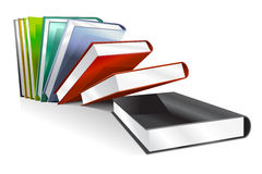 Book 3d vector illustration  on white. School books. Education, university, college symbols of knowledge, books stack, publish books, pages. Books stack. Books Royalty Free Stock Photography