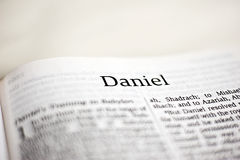 Book of Daniel. One of 66 books in the Bible stock image