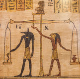 Book of the Dead. Detail of ancient Book of the Dead (1070 BC), Thebes - Egypt Stock Image
