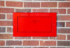 Book Depository. Outside of a library Royalty Free Stock Photo