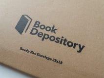 Book Depository logo parcel. GLOUCESTER, UK - CIRCA MARCH 2017: Book Depository logo parcel for shipping books stock photos