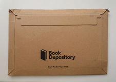 Book Depository logo parcel Stock Image