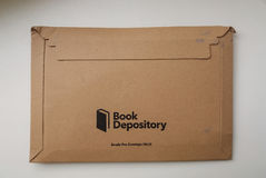 Book Depository logo parcel Stock Images