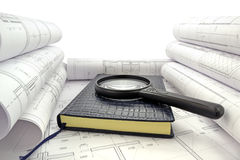 Book in design drawings Royalty Free Stock Images