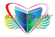 Book design and love Royalty Free Stock Image