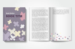 Book design template Royalty Free Stock Images