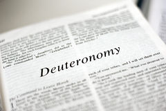 Book of Deuteronomy Stock Photography