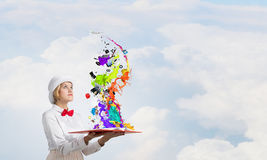 Book that develope your imagination Stock Photos