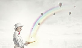 Book that develope your imagination Stock Images