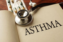 Book with diagnosis  Asthma. Stock Photography