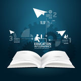 Book diagram creative paper cut style  template Royalty Free Stock Images