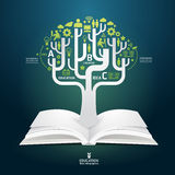 Book diagram creative paper cut style  template Royalty Free Stock Photo