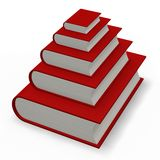 Book or dictionary pyramid Stock Photo