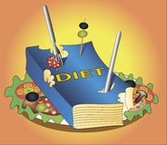 Book diet. Vector colored illustration Royalty Free Stock Photography