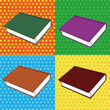 Book. Different book on squares with different color Stock Images