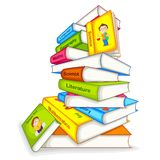 Book of different Subject. Vector illustration of pile of book of different subject Stock Photography
