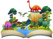 Book of dinosaur in the forest Royalty Free Stock Images