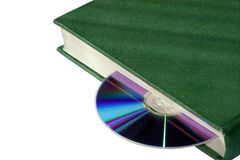 Book and disk. The dsisk as bookmark into the book Stock Photo