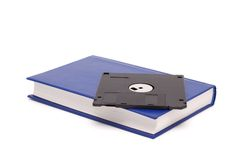 The book and diskette. Stock Photo