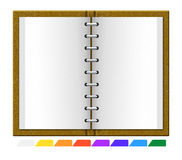 Book with divider labels. Book organizer with divider labels stock illustration
