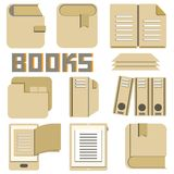 Book and document icons Royalty Free Stock Images