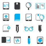 Book and document icons Stock Image
