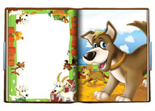 The book about dogs - illustration for the children Stock Photos