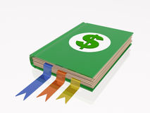 Book with dollar sign Royalty Free Stock Images