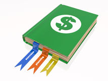 Book with dollar sign Royalty Free Stock Photo
