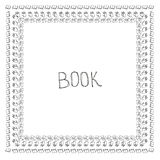 Book doodle frame Stock Image