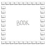 Book doodle frame Royalty Free Stock Photography