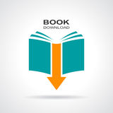 Book download icon. Vector illustration stock illustration