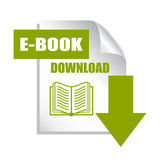 Book download icon. On white background royalty free illustration