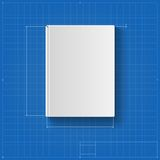 The book, drawing with dimensions, book cover Stock Images