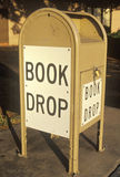 A book drop for the Santa Clara County Library Stock Photo